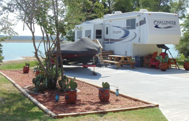 Our RV Sites are over-sized large lots to give our great people plenty of room.